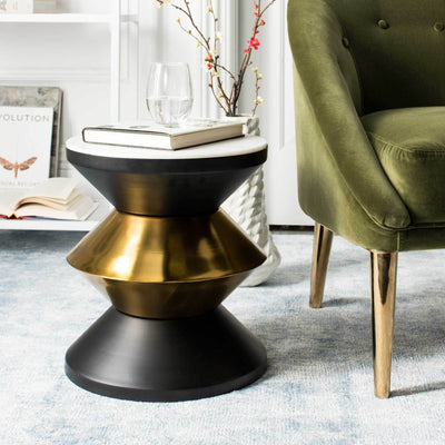 Azir Stone Top Side Table