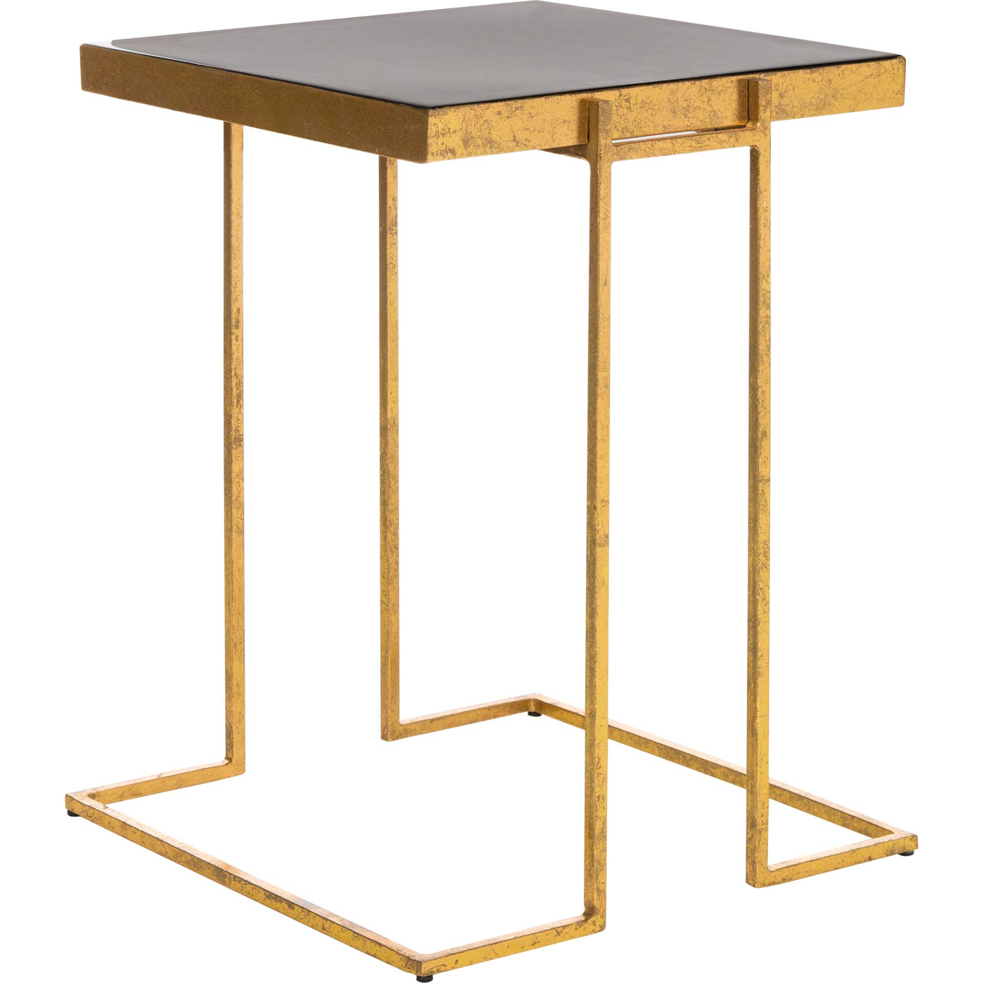 Amenity Greek Key Side Table Black/Gold