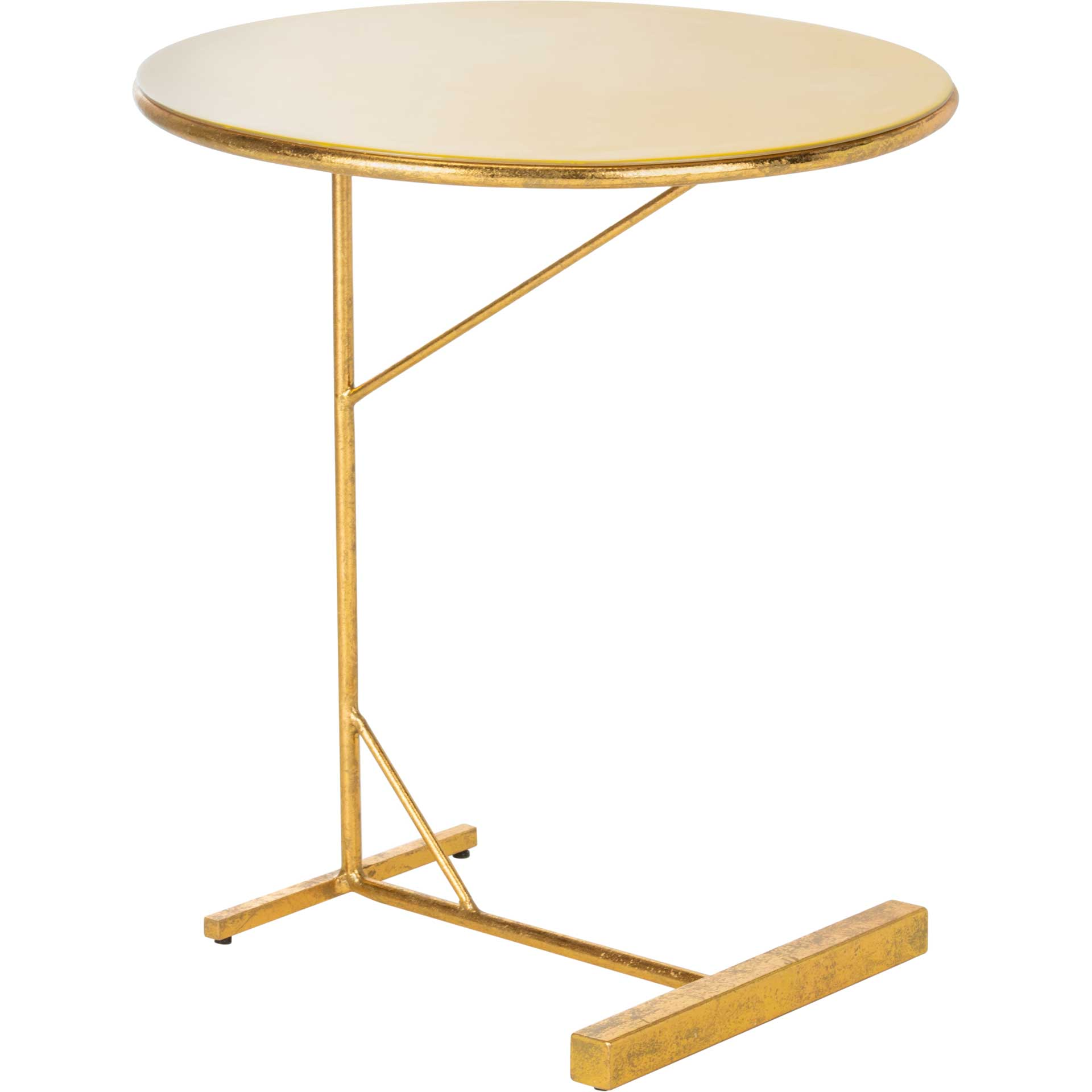 Simona Round C Table Yellow/Gold