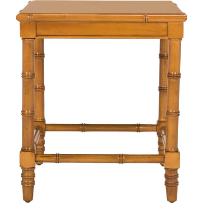Lilian Coastal Bamboo Accent Table Brown