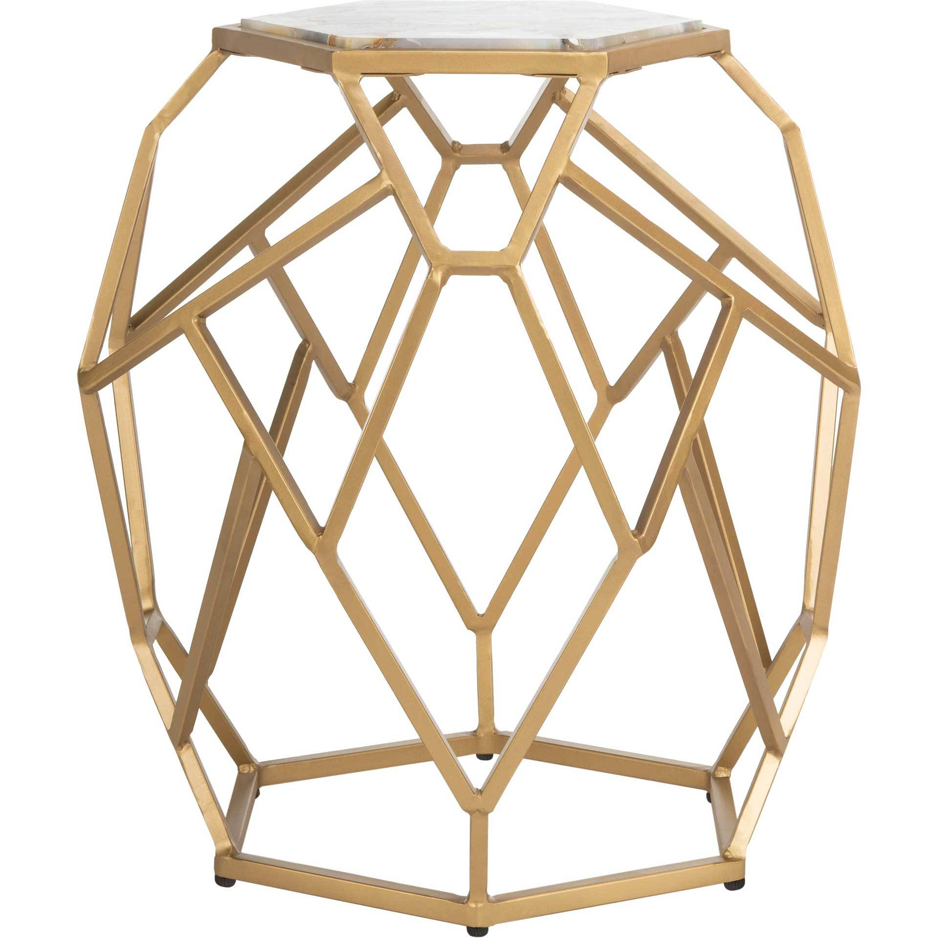 Aviana Geometric Accent Table