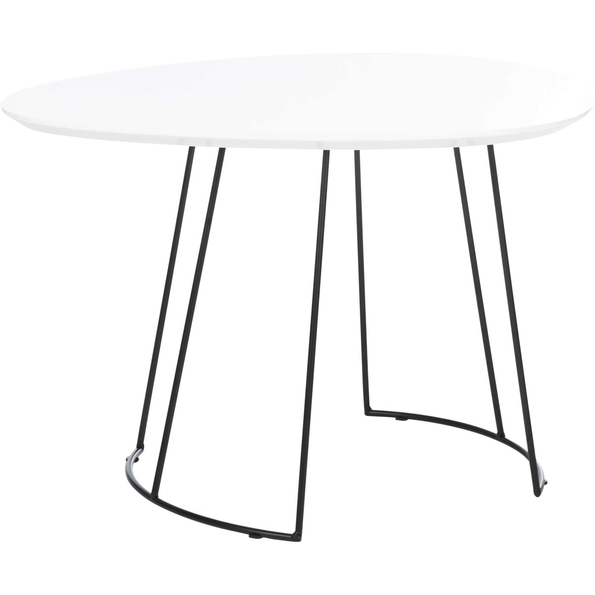 Bria Side Table Lacqure White/Black