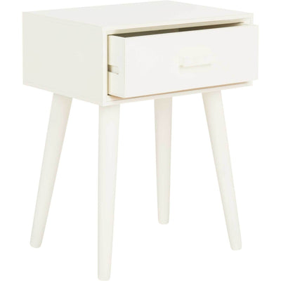 Lylah Accent Table Distressed White