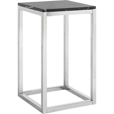 Leroy Square Side Table Black Marble/Chrome