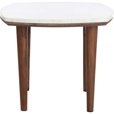 Larkspur Marble Side Table White Marble
