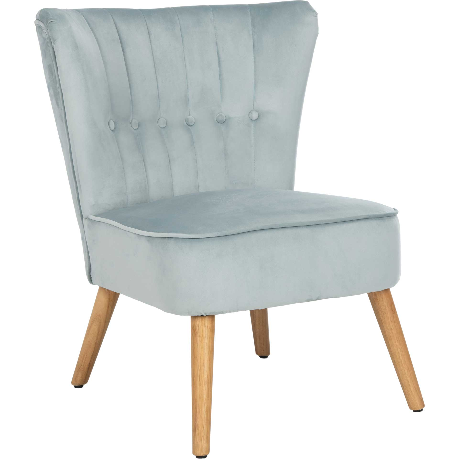 Juliet Mid Century Accent Chair Slate Blue/Natural