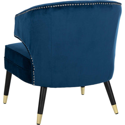 Stitch Wingback Accent Chair Navy/Black