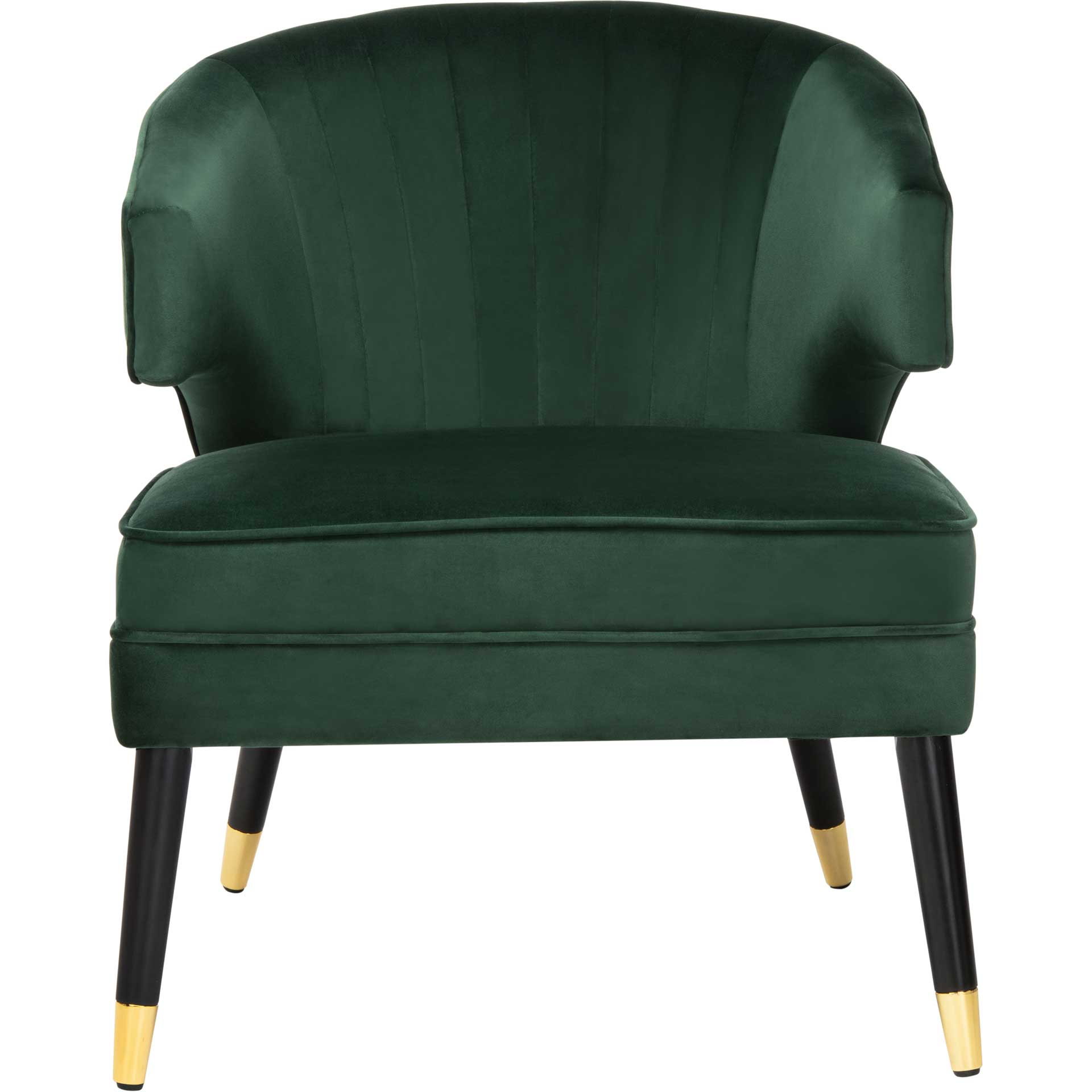 Stitch Wingback Accent Chair Forest Green/Black