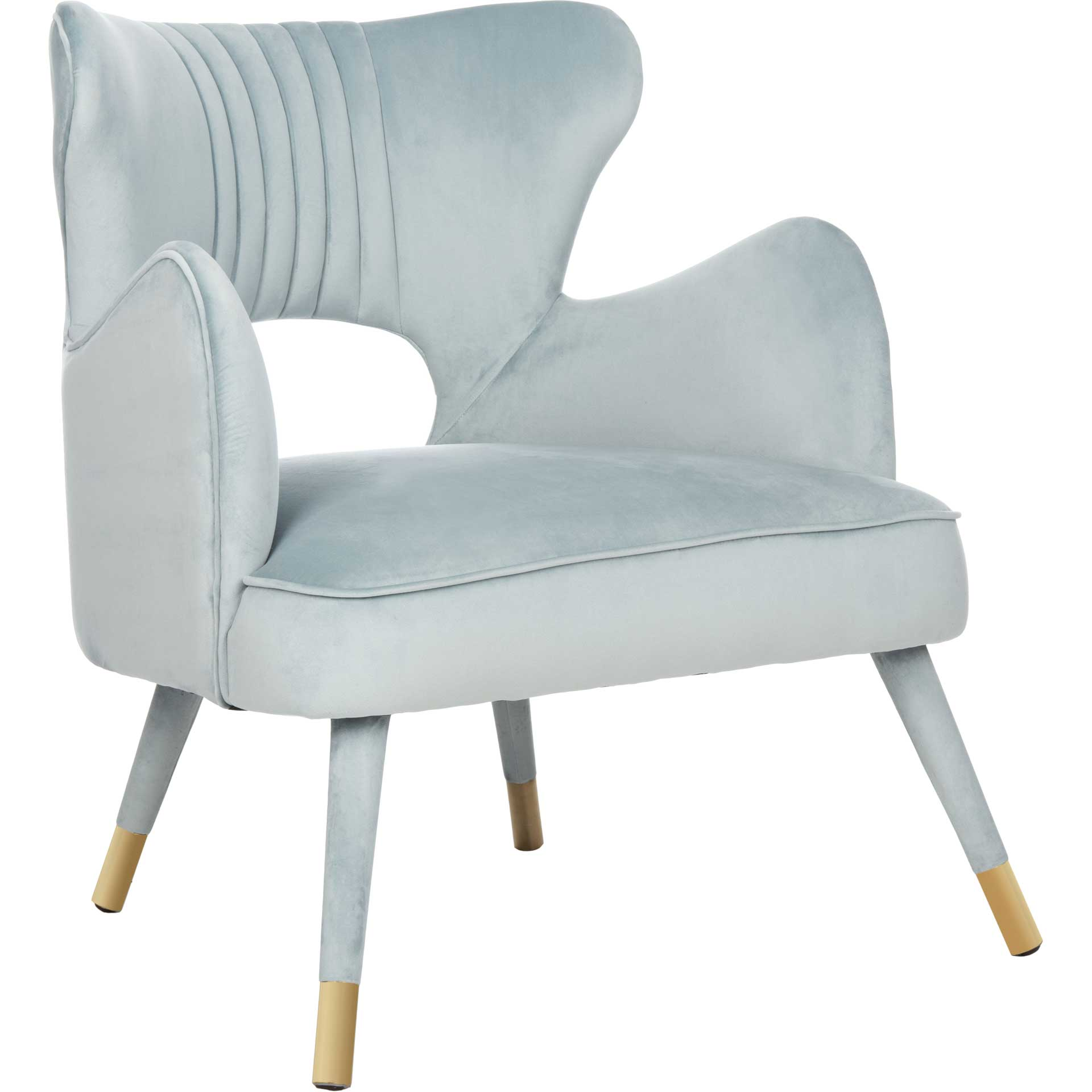 Blake Wingback Accent Chair Slate Blue