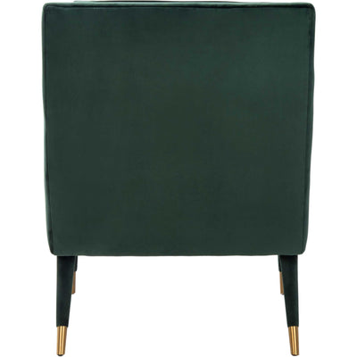 Malloy Tufted Accent Chair Forest Green/Gold