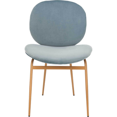 Jorden Round Side Chair Slate Blue/Gold (Set of 2)