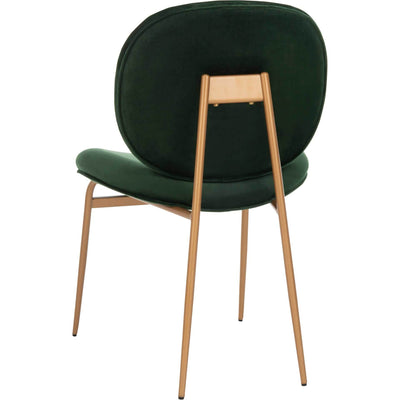 Jorden Round Side Chair Malachite Green/Gold (Set of 2)