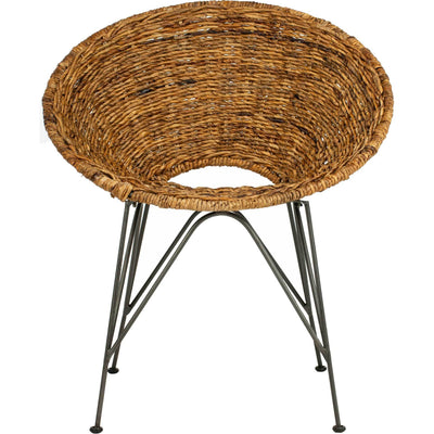 Sienna Rattan Accent Chair Natural/Dark Steel