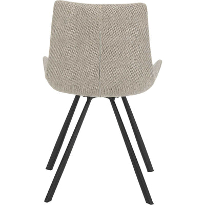 Tegan Side Chair Light Gray/Black (Set of 2)