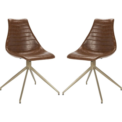 Lyra Leather Swivel Chair (Set of 2)