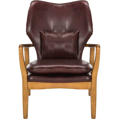 Tatiana Accent Chair Burgundy/Natural