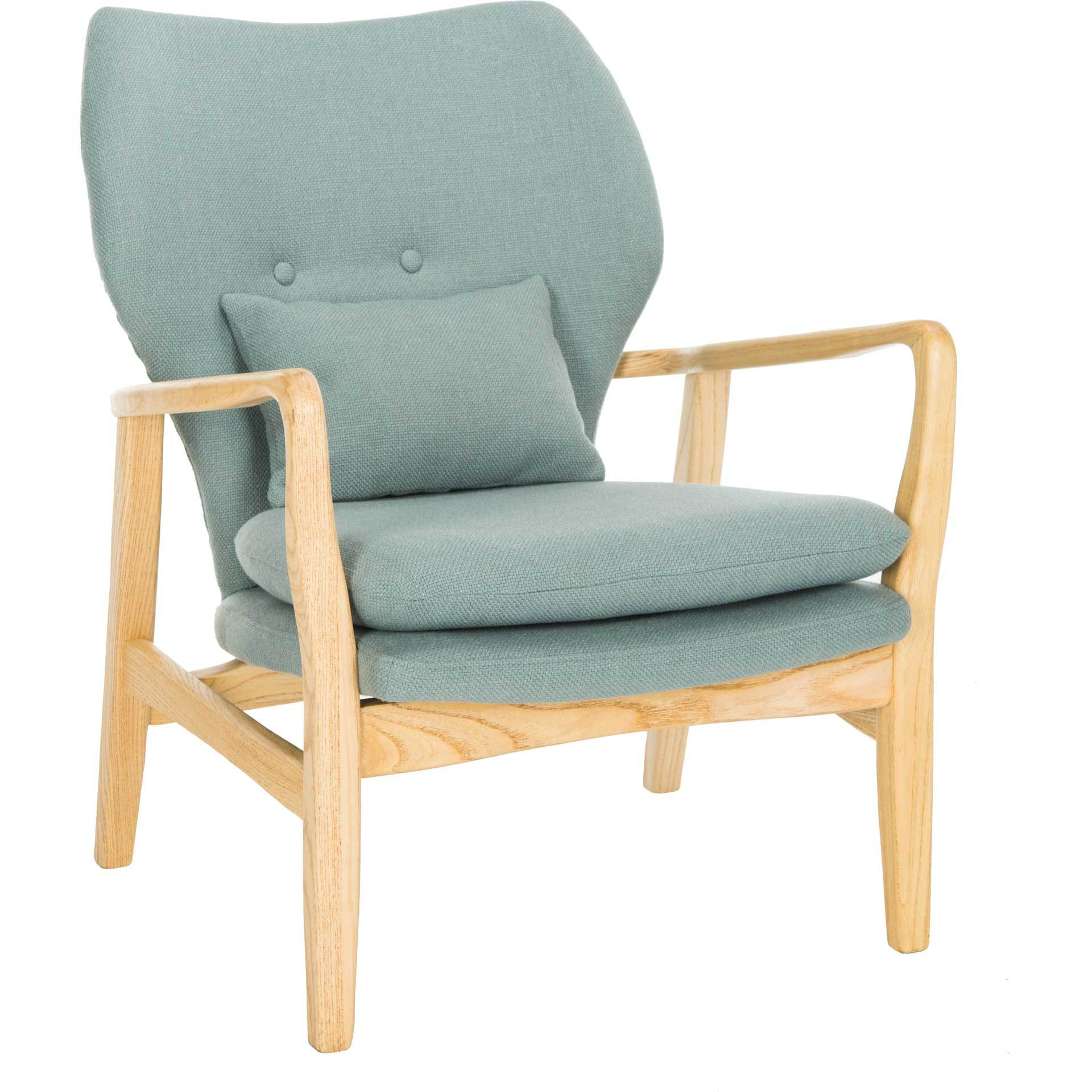 Tatiana Accent Chair Blue/Natural
