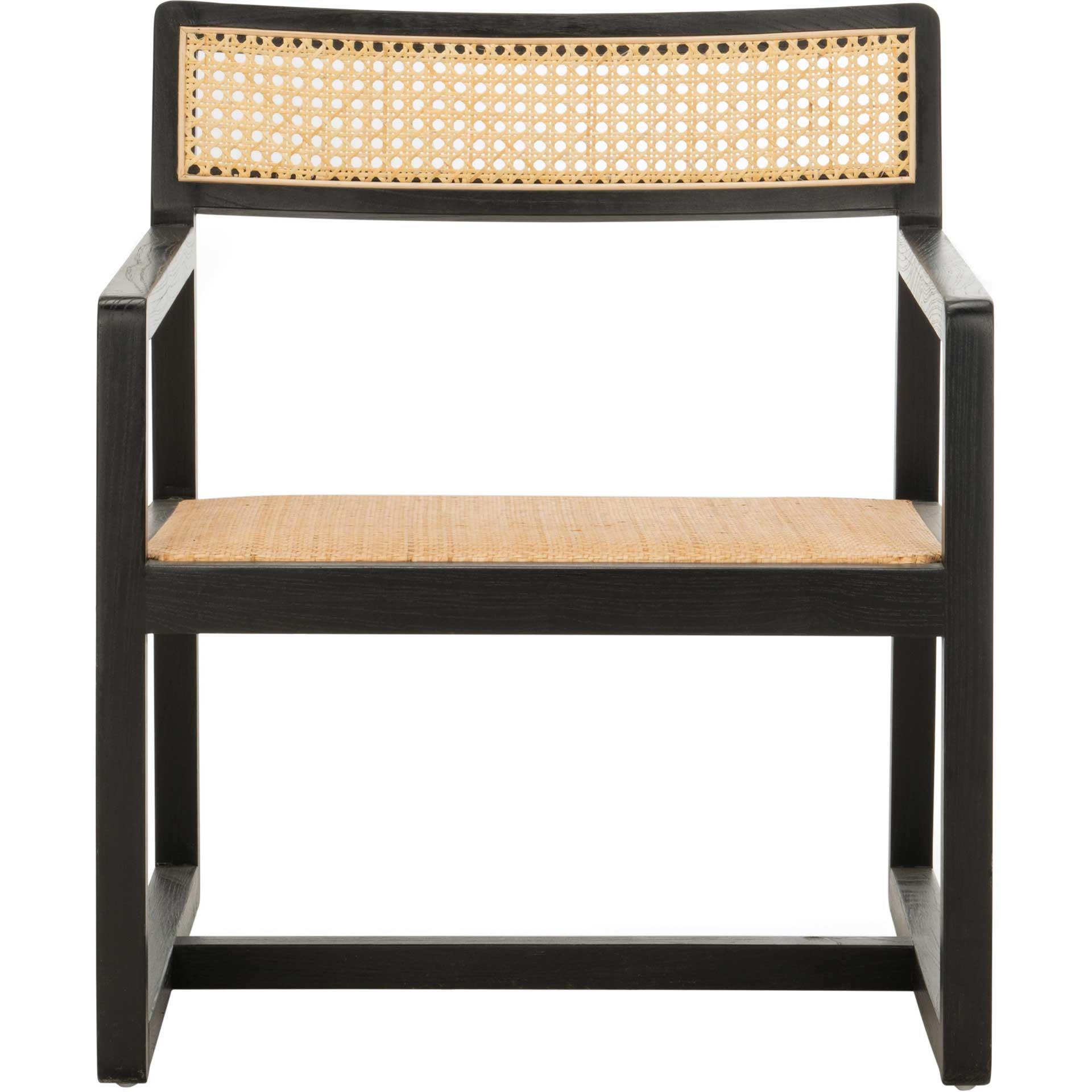 Lucy Cane Accent Chair Black/Natural