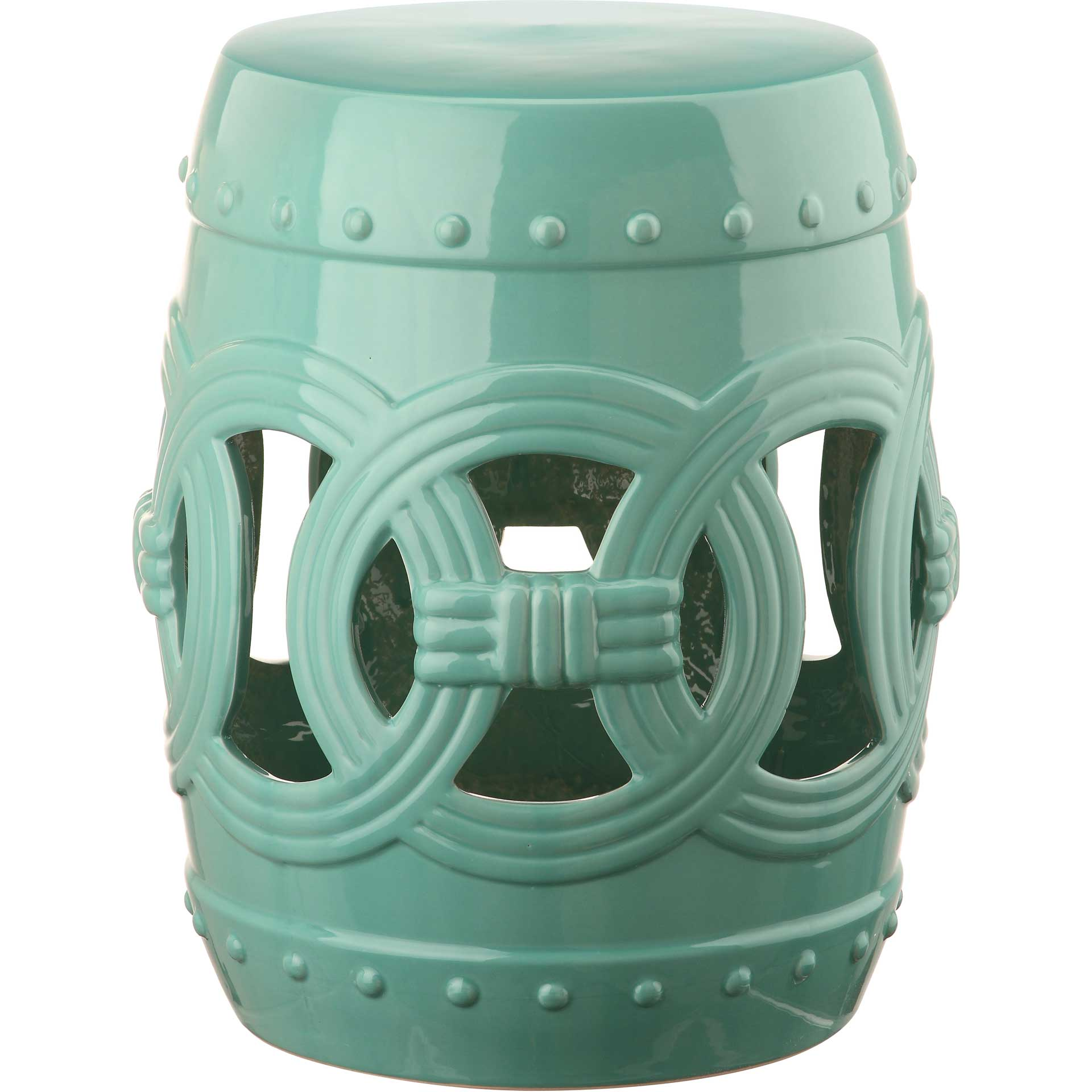 Double Coin Garden Stool Light Blue
