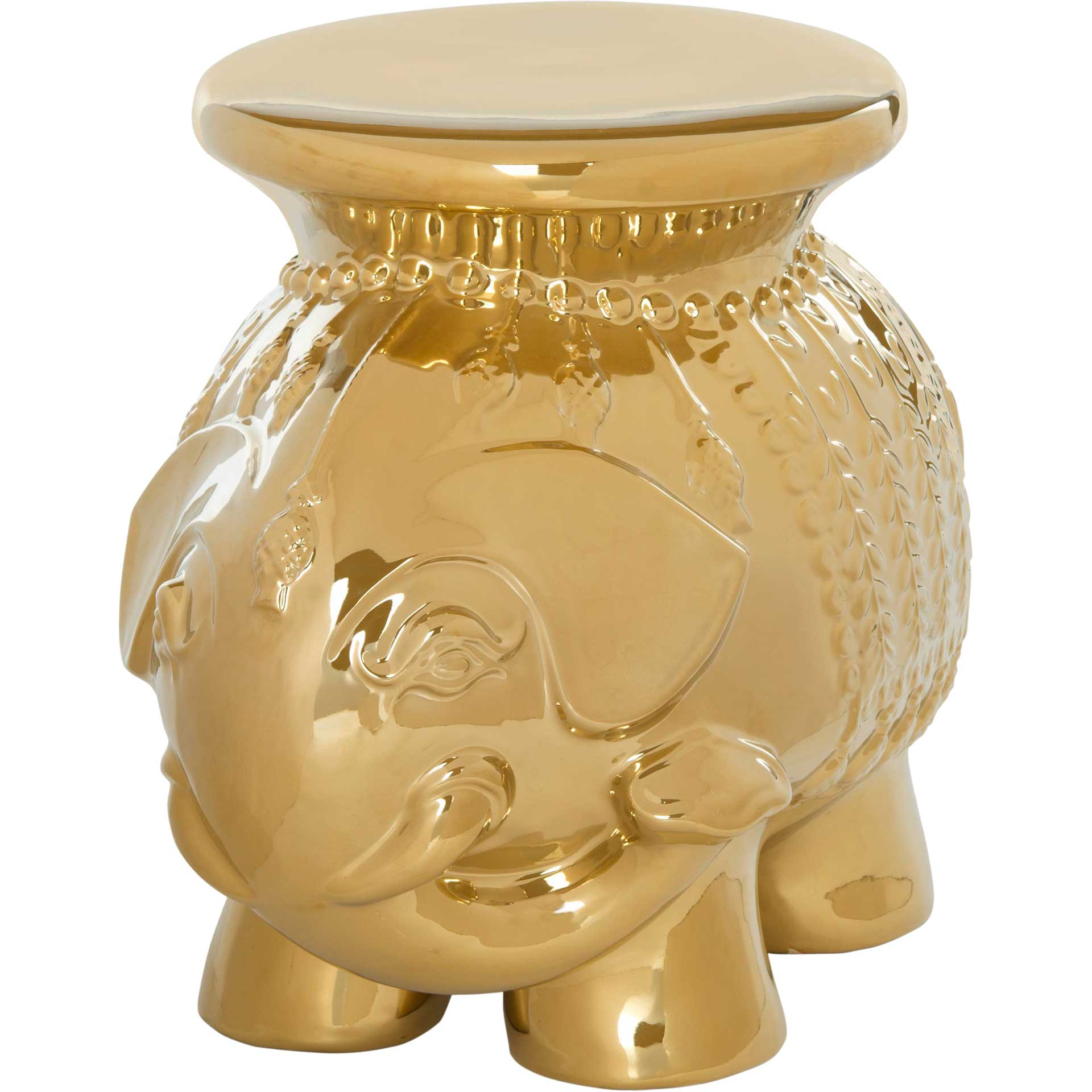 Elephant Garden Stool Gold