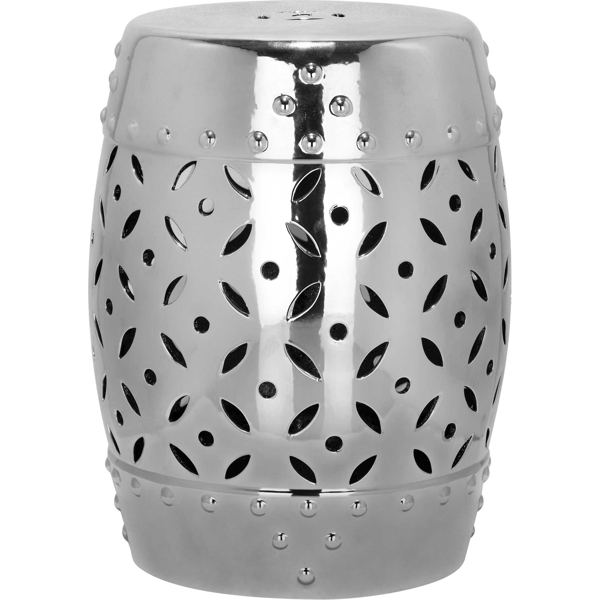 Lattice Coin Stool Silver