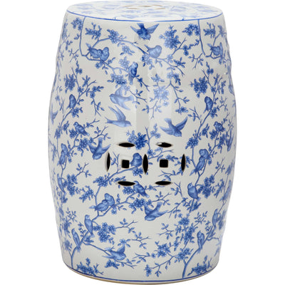 Blue Birds Garden Stool