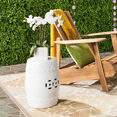 Molly Ming Garden Stool White