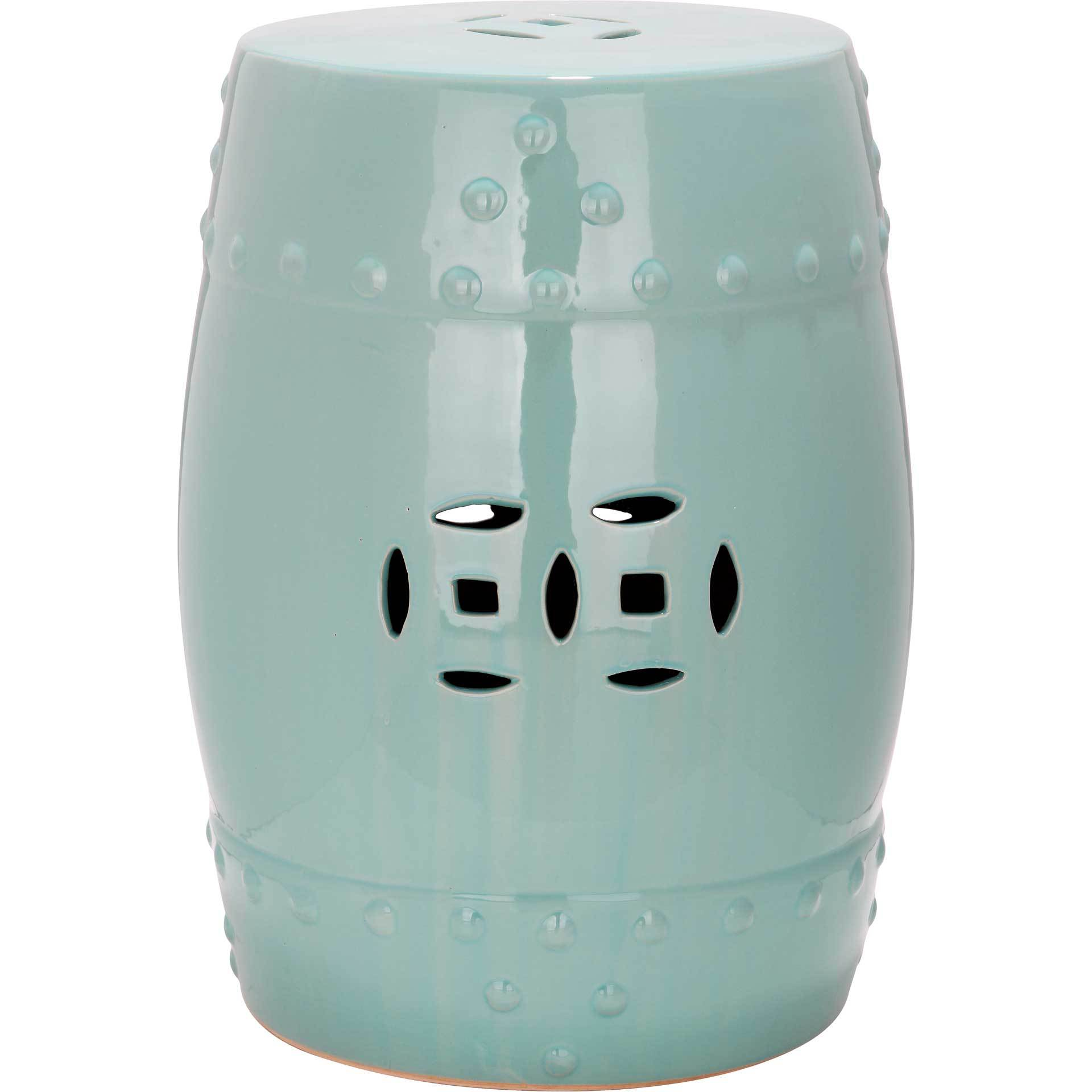 Molly Ming Garden Stool Light Aqua