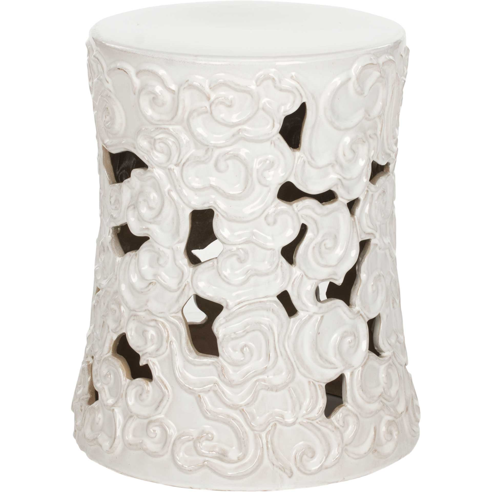 Cloud Garden Stool White