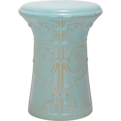 Imperial Garden Stool Light Aqua