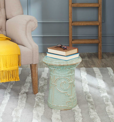 Imperial Garden Stool Blue