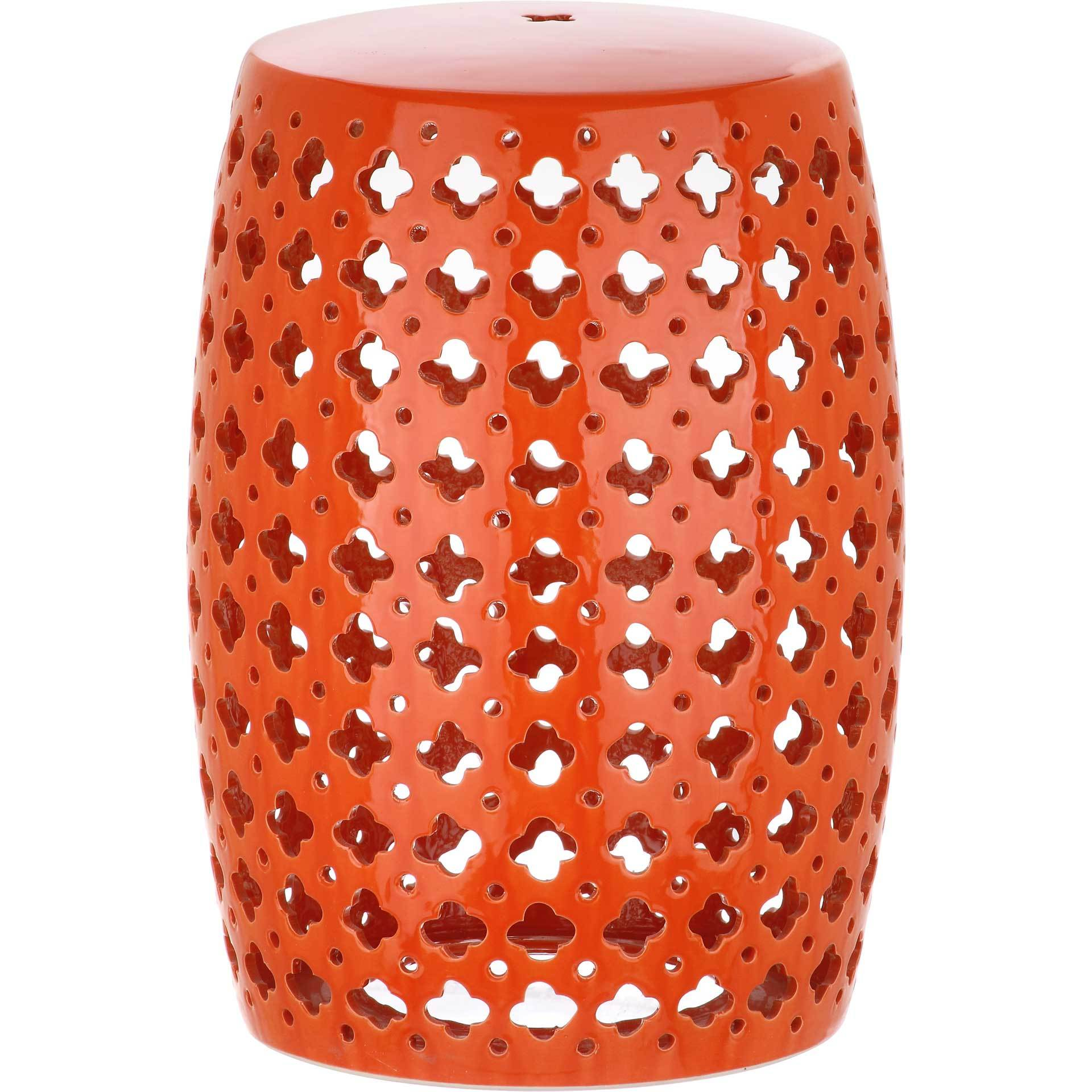 Laila Garden Stool Orange