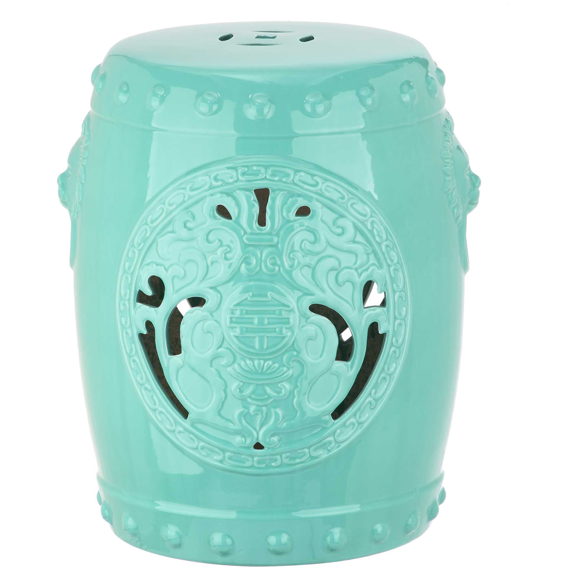 Dragon Coin Garden Stool Light Blue