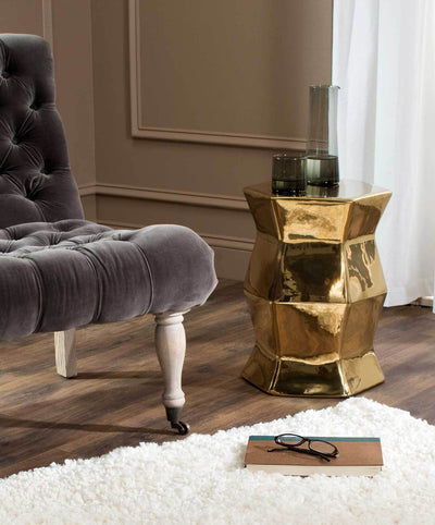 Molly Hexagon Garden Stool Gold