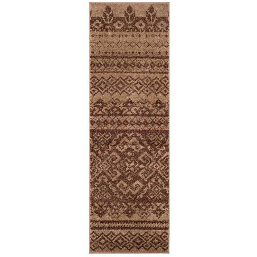 Adirondack Tribal Camel/Chocolate Runner Rug