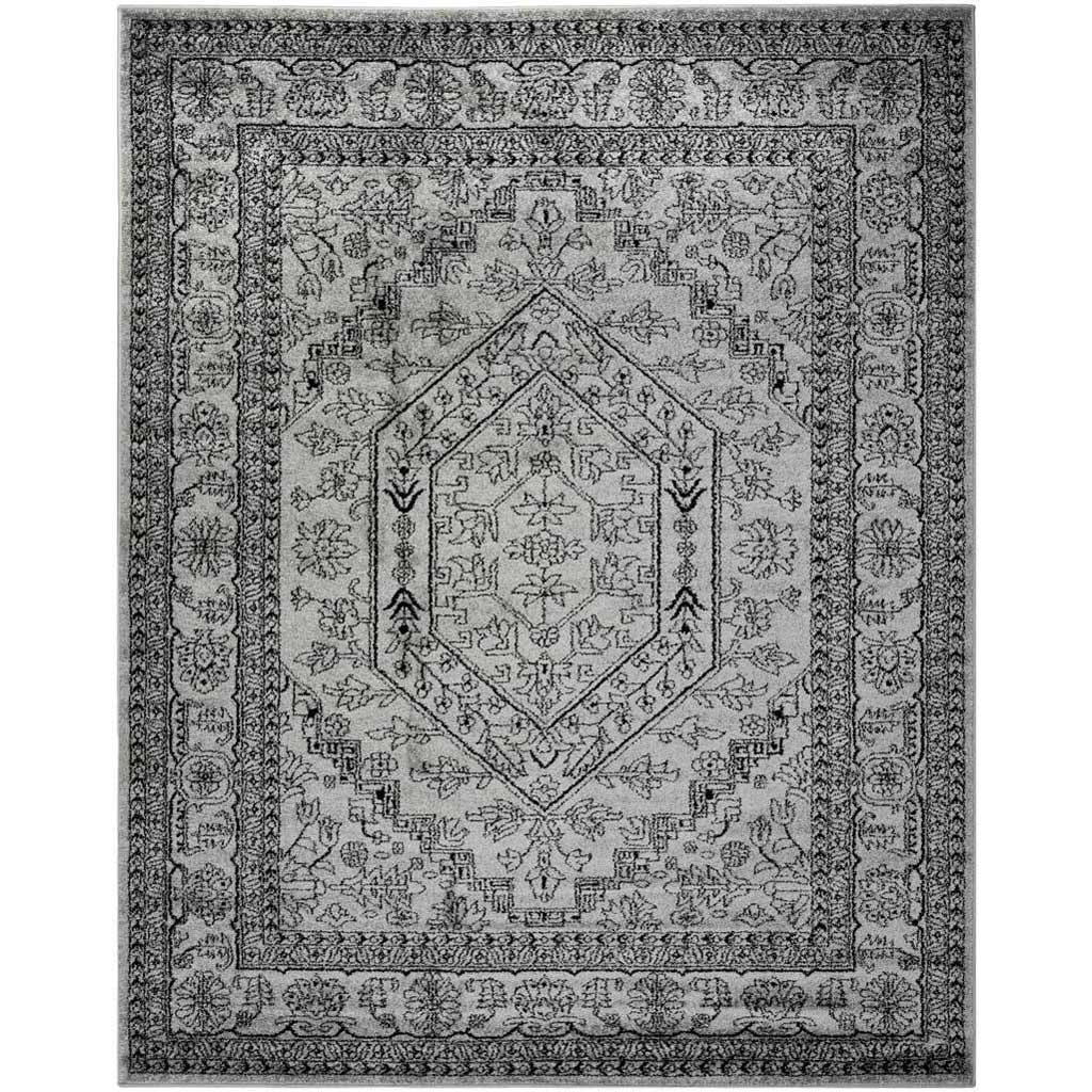 Adirondack Antique Silver/Black Area Rug