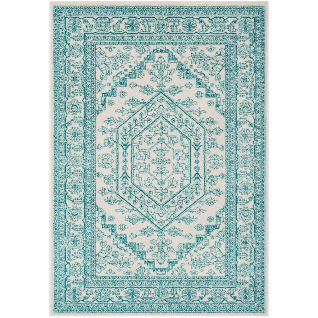 Adirondack Antique Ivory/Teal Area Rug
