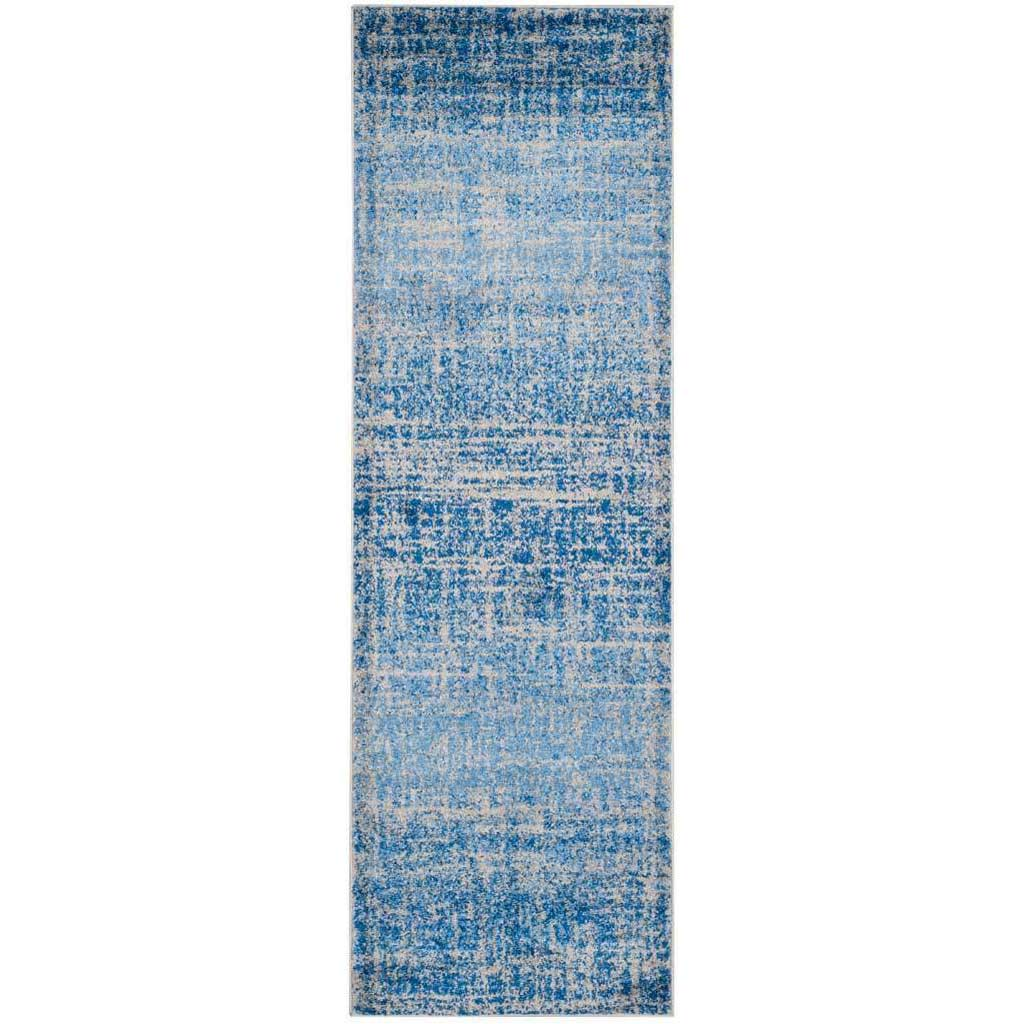 Adirondack Frequency Blue/Silver Runner Rug
