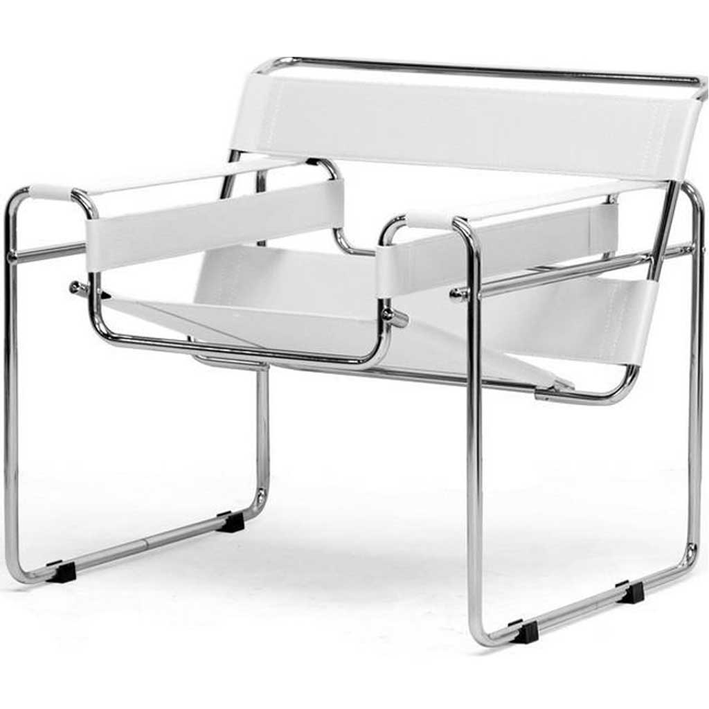 Strap Arm Chair White