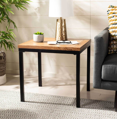 Demi Wood Top Side Table