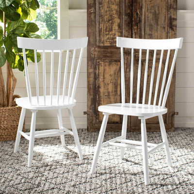 Paula Spindle Dining Chair White (Set of 2)