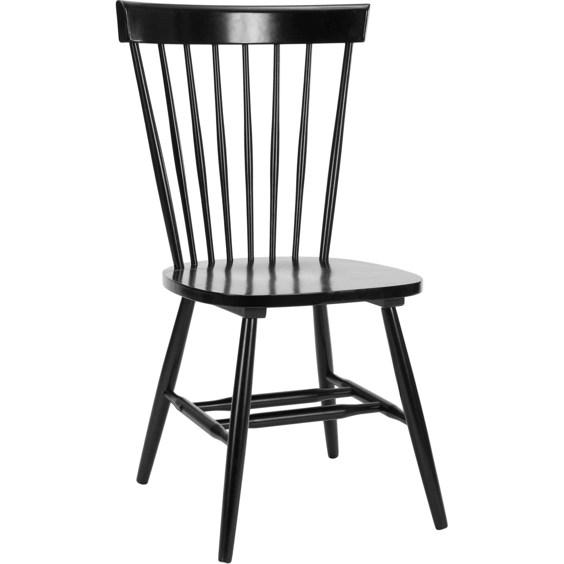 Paula Spindle Dining Chair Black (Set of 2) - Froy.com