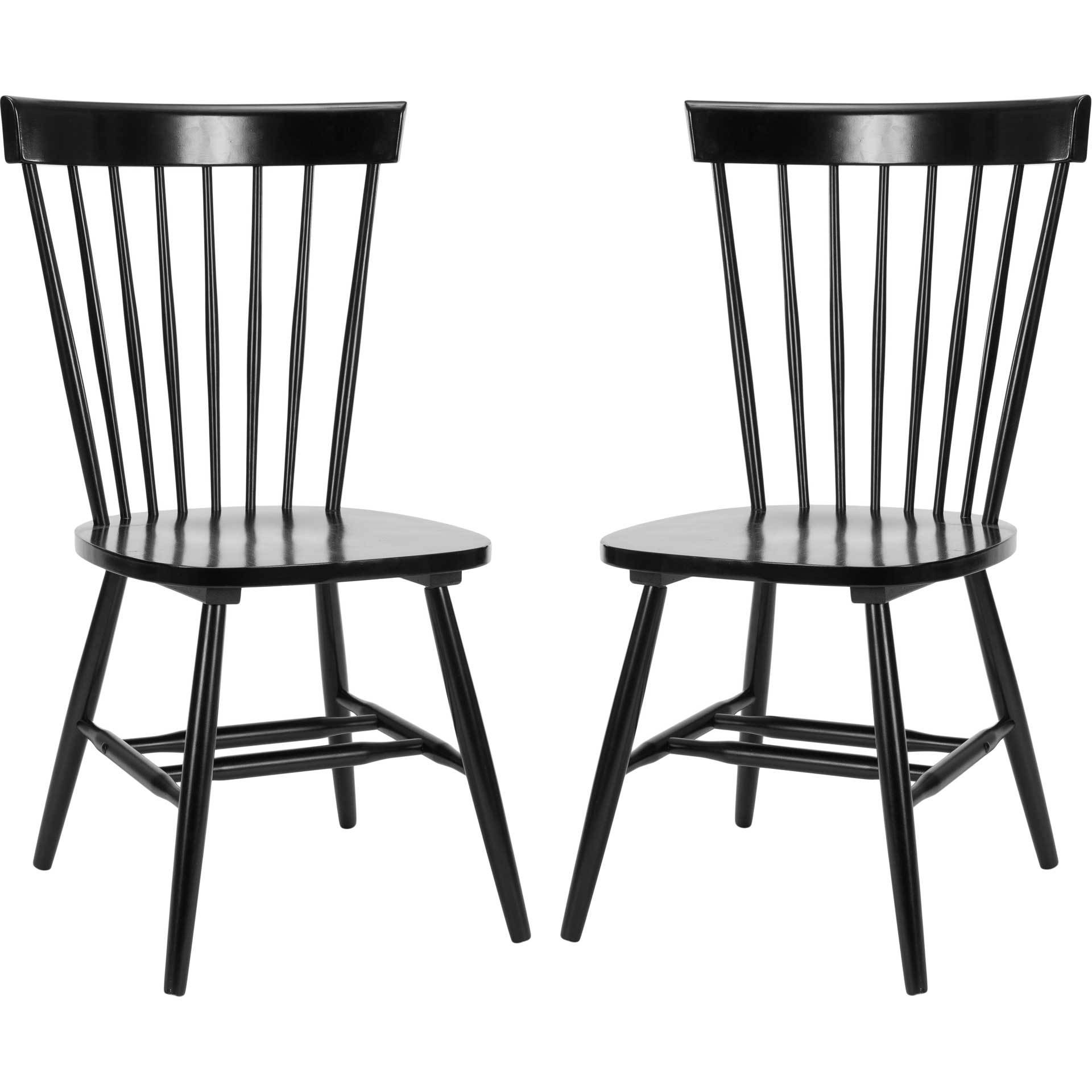 Paula Spindle Dining Chair Black (Set of 2)