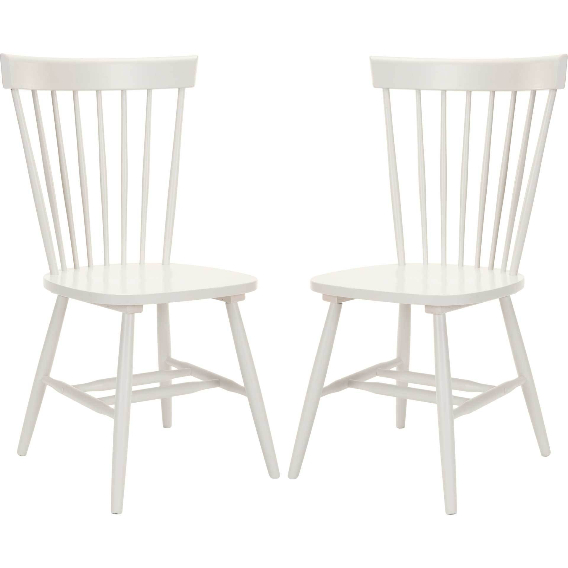 Paula Spindle Dining Chair Off White (Set of 2)