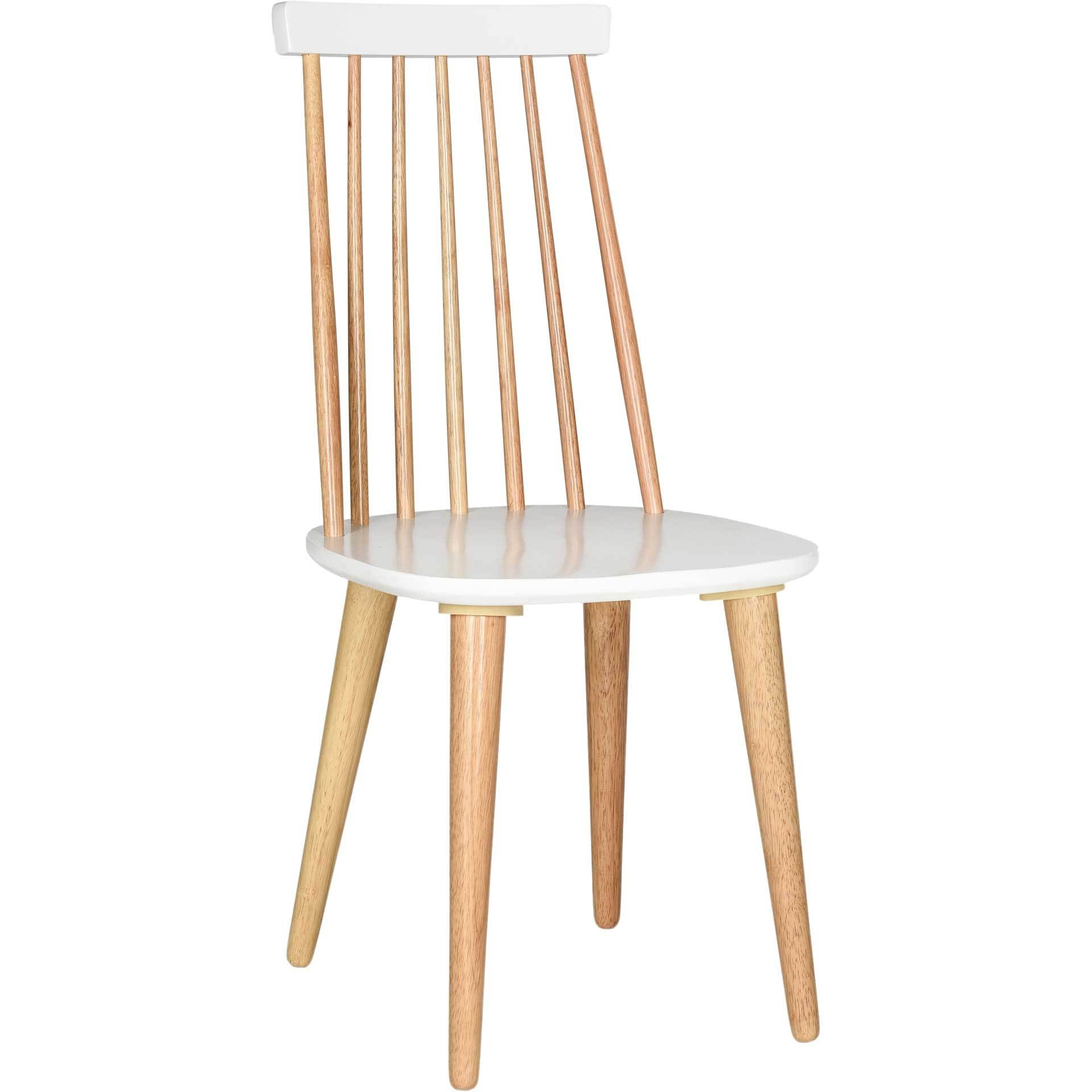 Buckley Spindle Side Chair Natural/White (Set of 2)