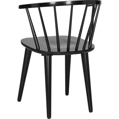 Blair Curved Spindle Side Chair Black (Set of 2)