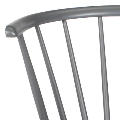 Blair Curved Spindle Side Chair Gray (Set of 2)