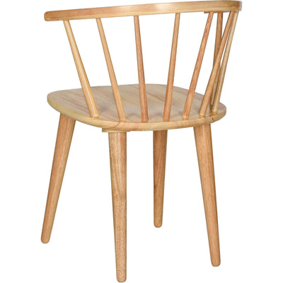 Blair Curved Spindle Side Chair Natural (Set of 2)
