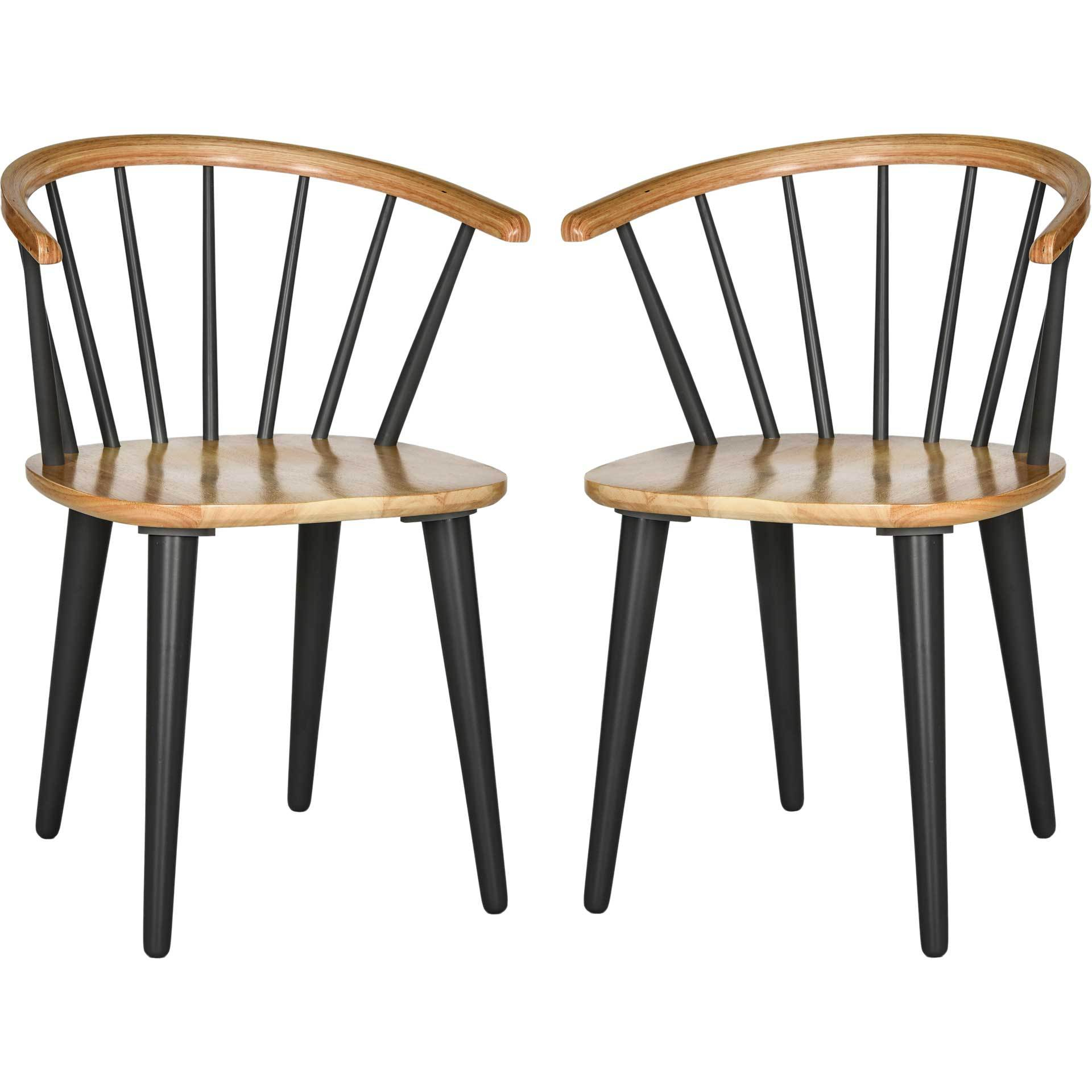 Blair Curved Spindle Side Chair Natural/Gray (Set of 2)