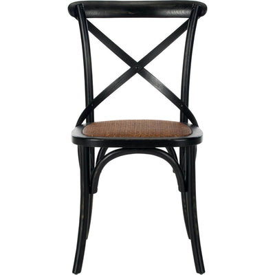 Frederick X Back Farmhouse Chair Distressed Hickory (Set of 2)